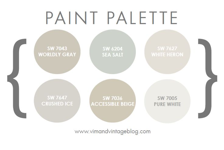 Sherwin Williams Neutrals - favorites, Sea Salt, Crushed Ice & Accessible Beige