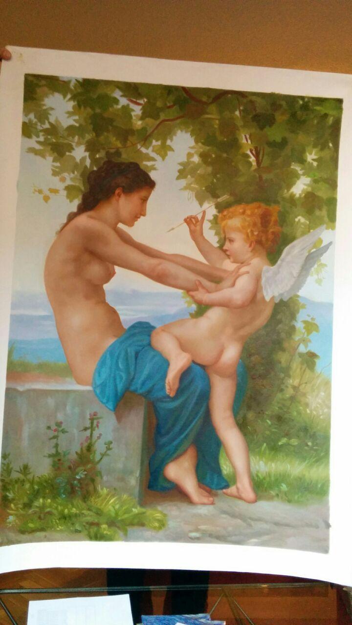 Ragazza si Difende da Eros, Bouguereau