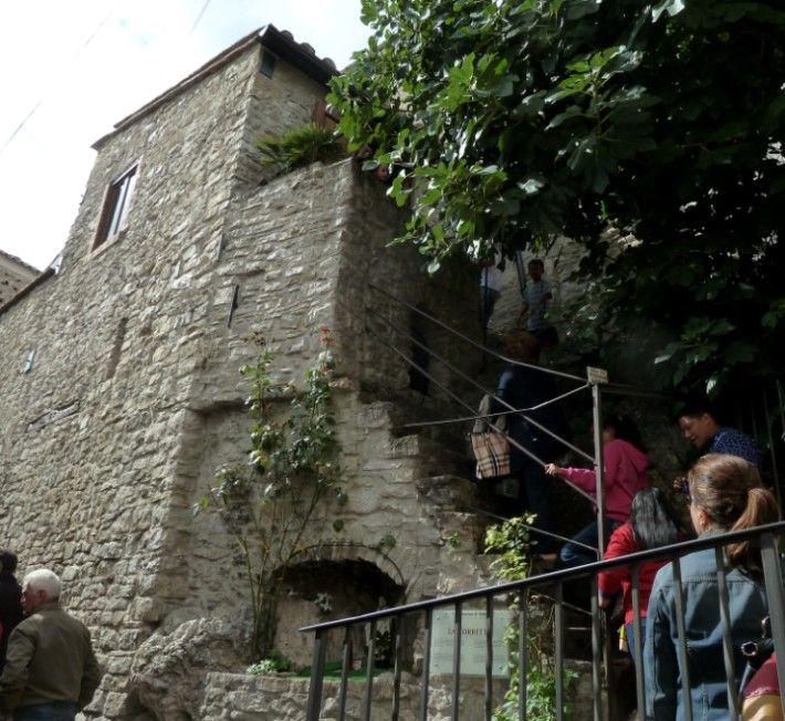 La gradinata per la Torretta - Pietrelcina