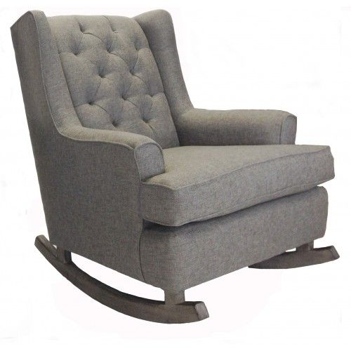 trendy baby furniture. Tatum Wingback Tufted Rocker In Belgian Grey Trendy Baby Furniture