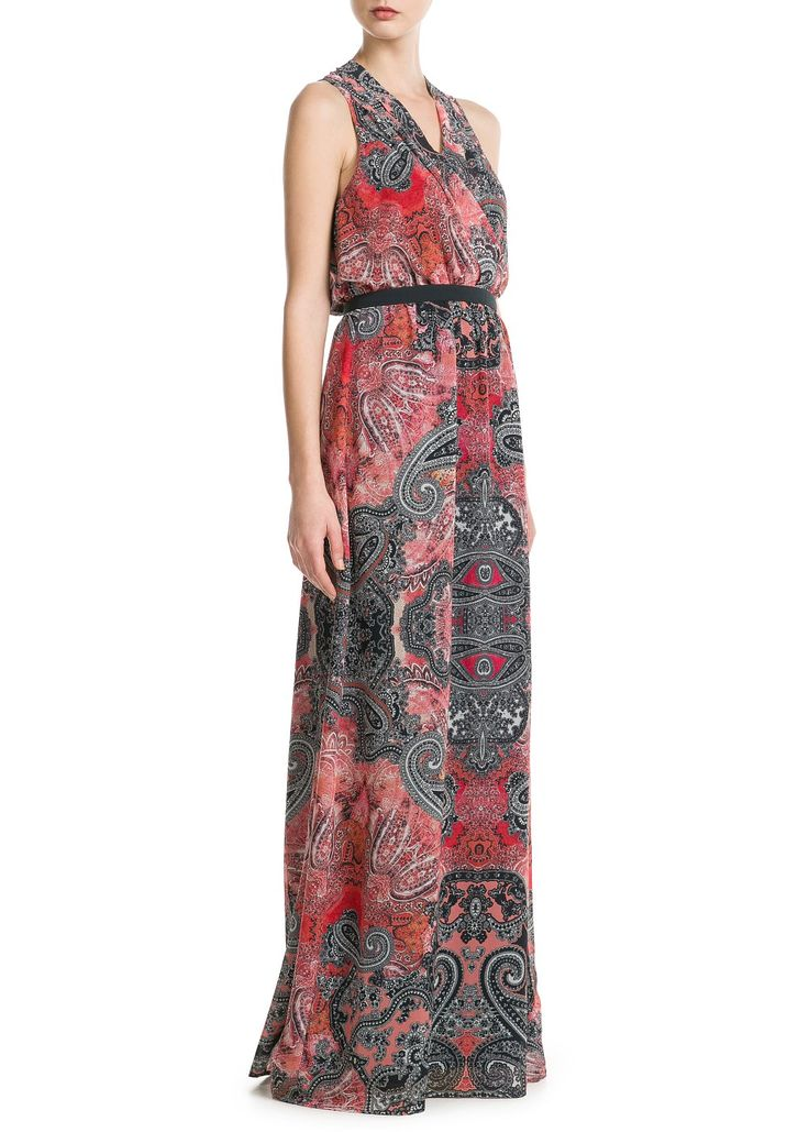 Paisley long dress