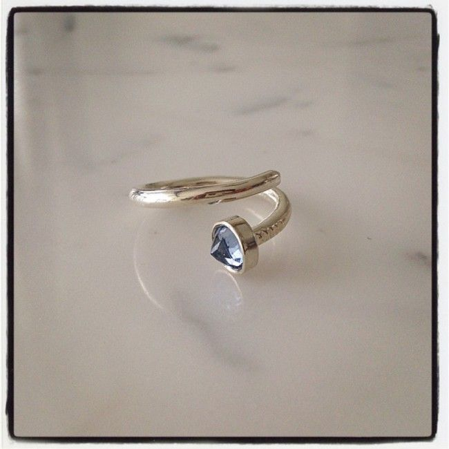 Ring as a nail from silver with aquamarine 30€ SOLD OUT
