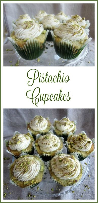 """Pistachio Cupcakes ~ I wanted to make something special for Saint Patrick's Day, but  I didn't want whatever I made to be too Saint Patrick's Day""""ish""""…I wanted to be able to make the recipe throughout the year. http://oldermommystillyummy.com"""