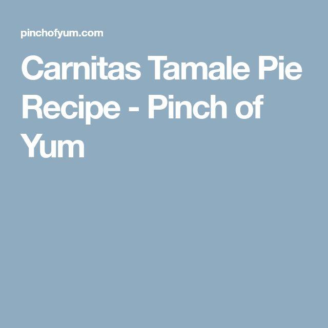 Carnitas Tamale Pie Recipe - Pinch of Yum