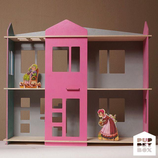 Разборный кукольный дом  Размеры: ШхВхГ -- 70 х 60 х 20 см Высота этажей 24 см