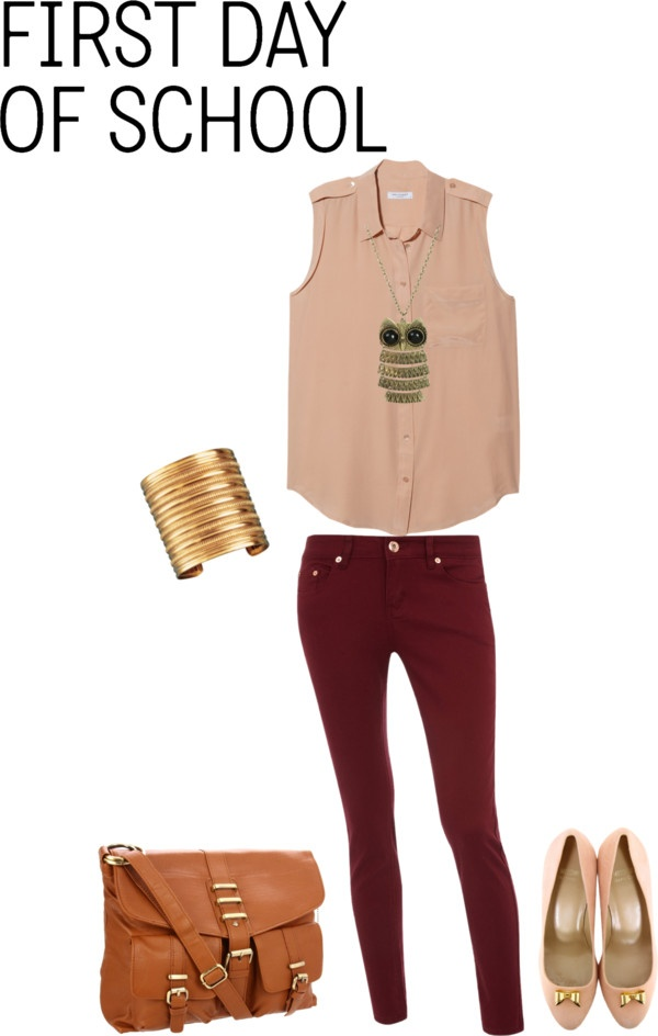 """""""First Day of School outfit"""" by stylelover10 on Polyvore"""