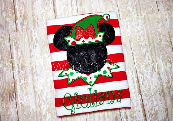 Minnie Christmas Elf t-shirt MVMCP elf by SewSweetNSouthern