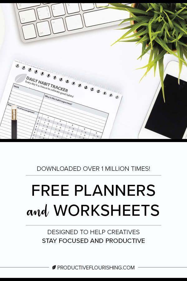 Free Planners  Productivity Worksheets Productivity + Time