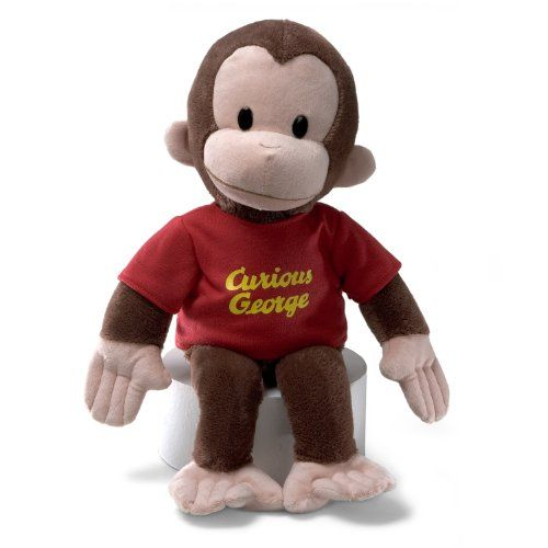"""Gund Curious George Stuffed Animal, 16 inches   GUND has teamed up with everybody's favorite monkey - Curious George! This adorable 16"""" plush version of Curious George features a red Read  more http://shopkids.ca/toys-videos-games/gund-curious-george-stuffed-animal-16-inches"""