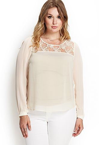 Embroidered Floral Blouse | FOREVER 21 - 2000122545
