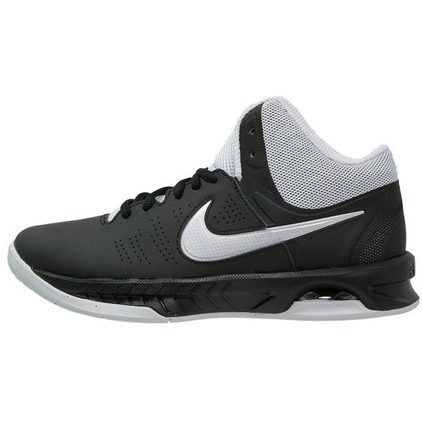 Nike Performance AIR VISI PRO VI Basketball shoes black/metallic... (€79) ❤ liked on Polyvore