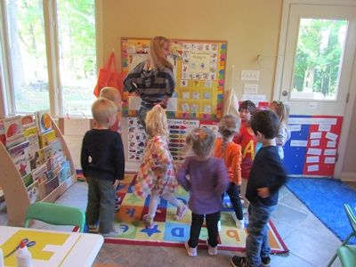 """Keeping preschoolers moving with """"Count to Five and Exercise""""...choose several exercises or stretches daily to do as the children count to five."""
