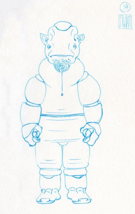 Challenge Day 185 Year 3  Muji Light Blue 0.3mm nib pen on Studio Sketchbook.  Daily Character Design Challenge, 2017-11-26 Year 3 - No185b, by Jeff Stewart #creature #alien #365_day_challenge #oc #conceptart #CharacterDesign #CharacterChallenge #original_character #character_art #concept #challenge #drawing #sketch #line_art #lineart #line_drawing #linedrawing #art #artist #artists_on_tumblr #sci_fi #scifi #character_design #concept_art #character_challenge