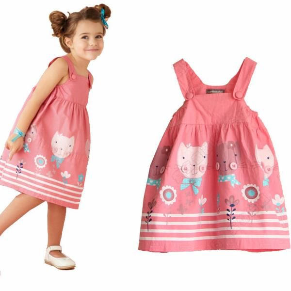 Cute Summer Kitty and Friends Children's Dress!