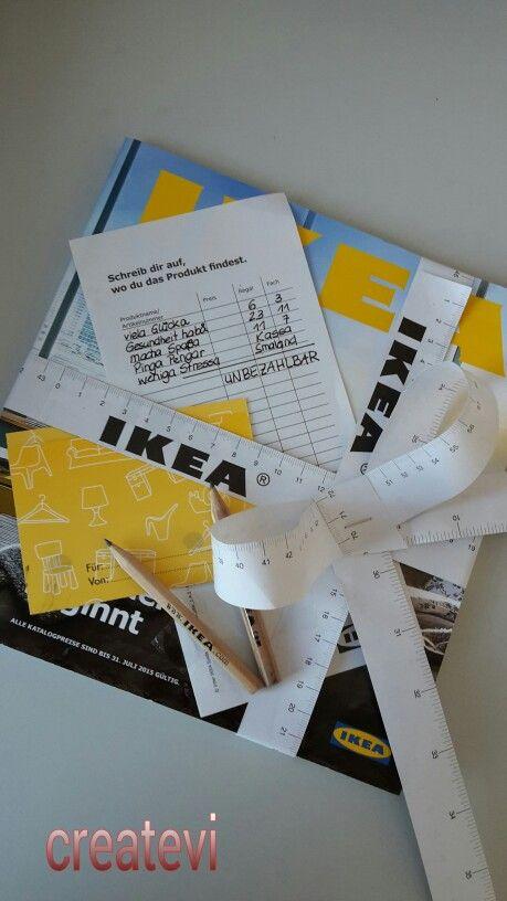IKEA Gutschein originell verpackt! Keine Zusatzkosten erforderlich. Gibt es alles bei IKEA.