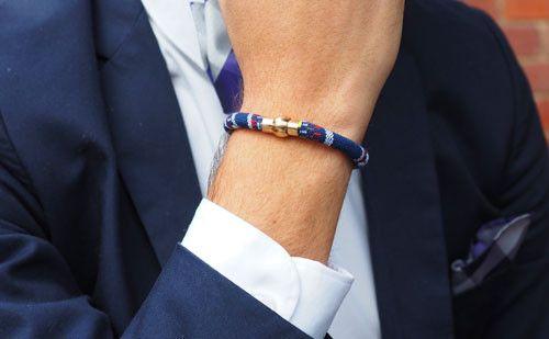 The Abraham Navy Men's Rope Bracelet #rope #bracelet #accessories #menswear  Check out this: http://dappervigilante.com/