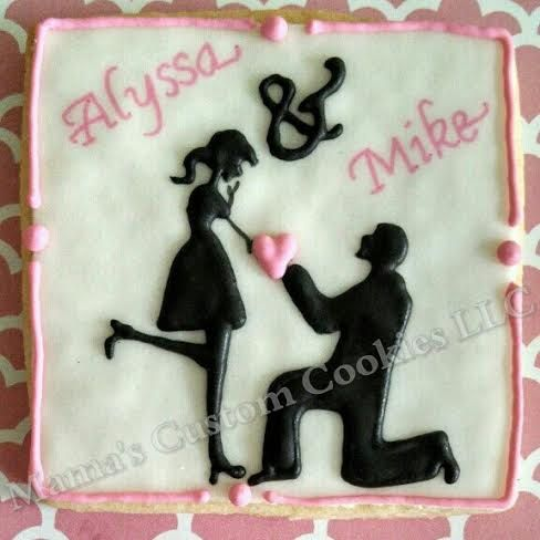 Custom Engagement Cookies by Mama's Custom by MamasCustomCookies