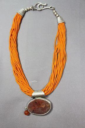 İletişim: aksesuarelle@gmail.com Bohem Stil Hardal Sarısı Afgan Boncuğu, Doğal Taş Uçlu Kolye - El Yapımı Takı Tasarım /  Bohemian Style Yellow Afgan Neclace with Natural Stone Jewel  - Handmade Jewelry Design
