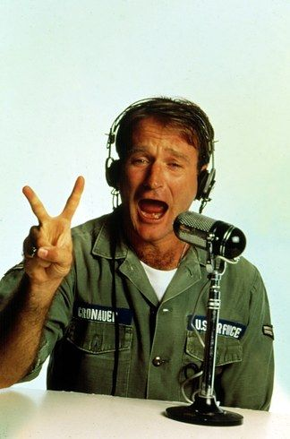 Good Morning, Vietnam, 1987. | Robin Williams: A Life In Pictures