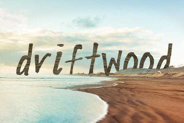 Driftwood (free download!) by Heather Burrell, via Behance
