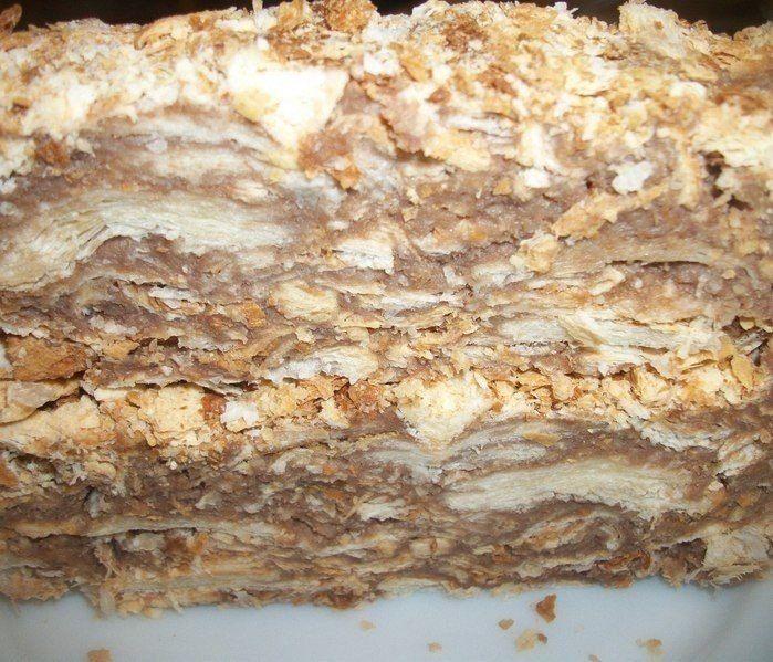 """Оригинальный торт """"Наполеон"""" (за пол часа)"""