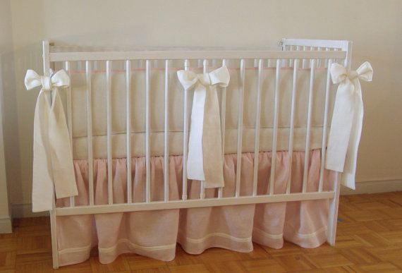 Hey, I found this really awesome Etsy listing at https://www.etsy.com/listing/185508801/linen-nursery-bedding-skirt-and-4-side