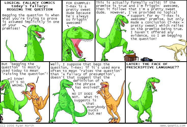So, dinosaurs were prescriptivists ... that explains a lot.