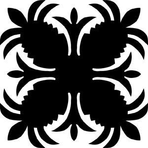 Hawaiian Quilt Tile 77 : HaoleKid