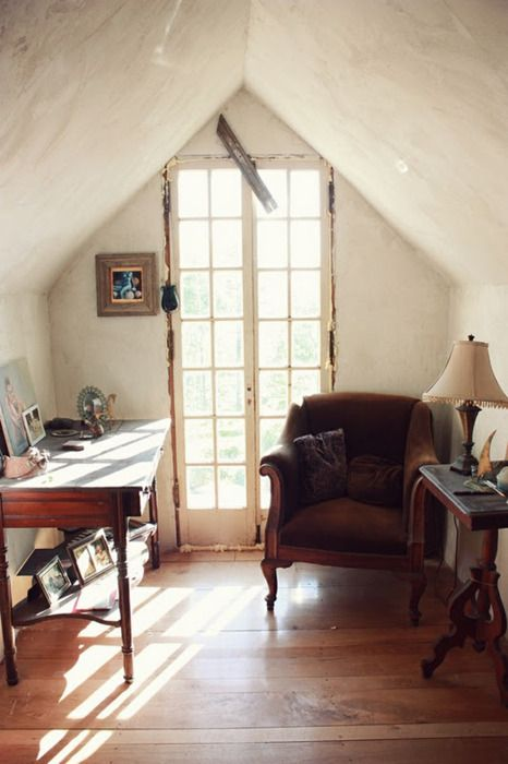 I love cozy small spaces-now I just have to figure out how to add some
