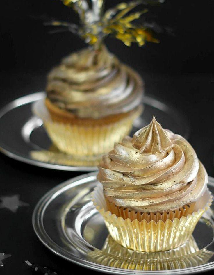 Cupcakes glaçage or