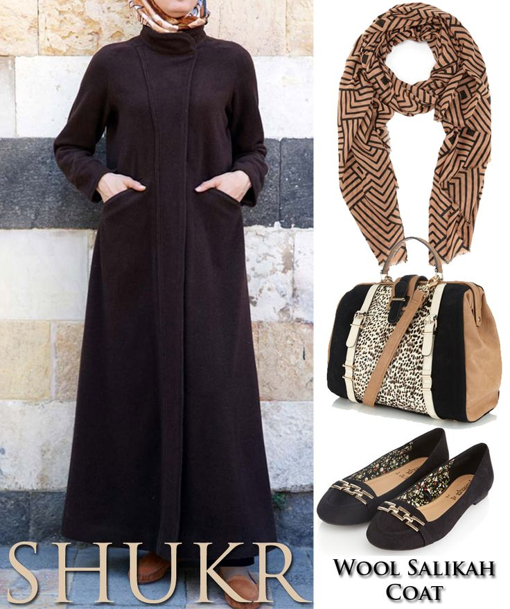 Share the SHUKR Inspiration! Wool Salikah Coat