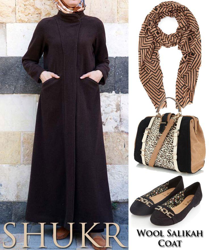 Share the SHUKR Inspiration! Wool Salikah Coat