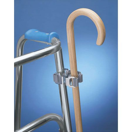 Keep your cane nearby with this convenient Double Sided Clip-On Cane Holder.