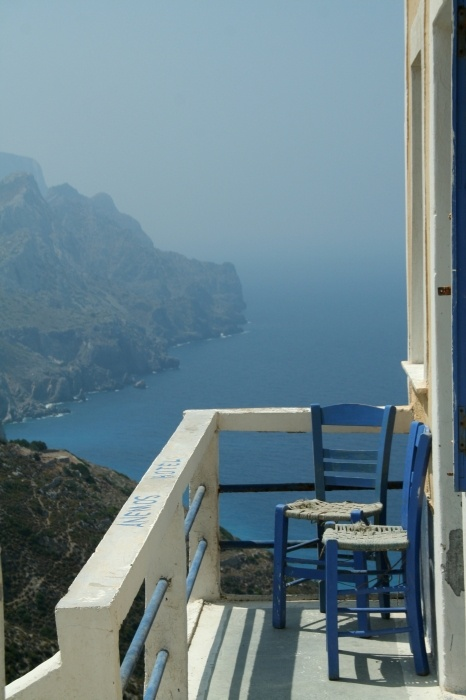 Olympos Village - Karpathos Island - Greece.Hey this was my little balcony on last jears vacation!!