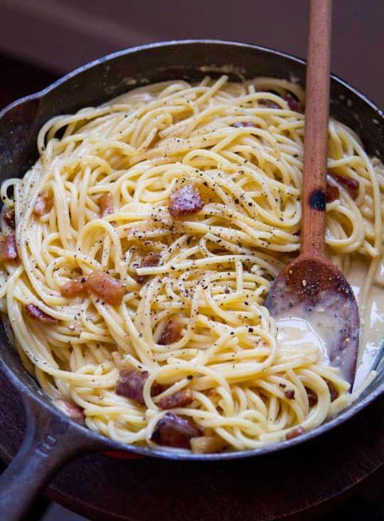 Špagety s omáčkou je asi jídlo, po kterém saháme nejčastěji, když nevíme, co uvařit k večeři. Děti je milují a hlavně, je to jeden z nejrychlejších receptů. Omáčku zvolíte jakou máte rádi a za pár minut jsou špagety na stole. Dnes si spolu připravíme recept na špagety Carbonara, přičemž recept
