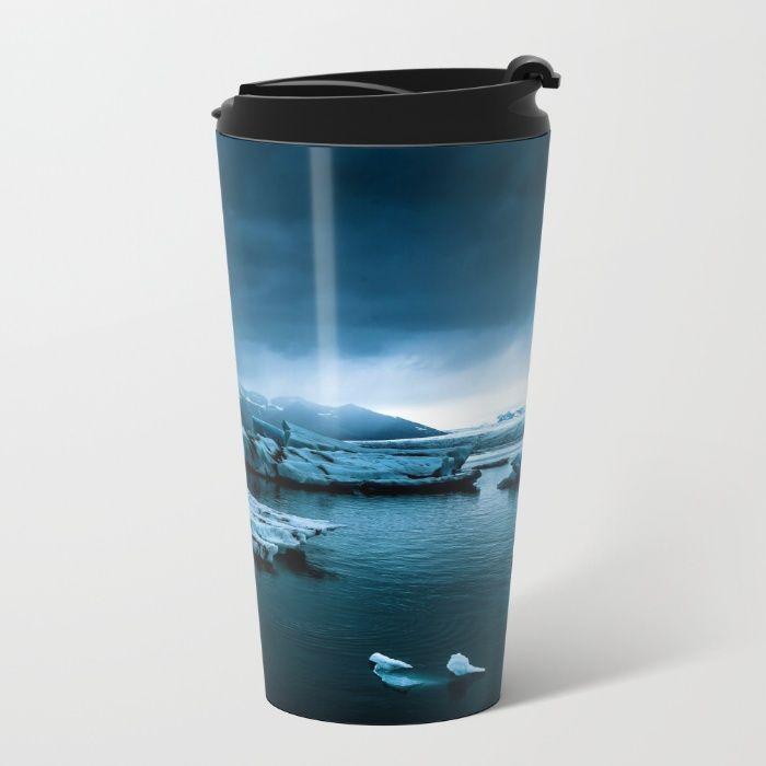 Blistering Cold Metal Travel Mug by Mixed Imagery | Society6