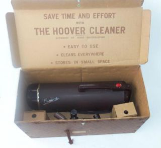 1940s Hoover Canister Vacuum Model 50 w/accessories NR