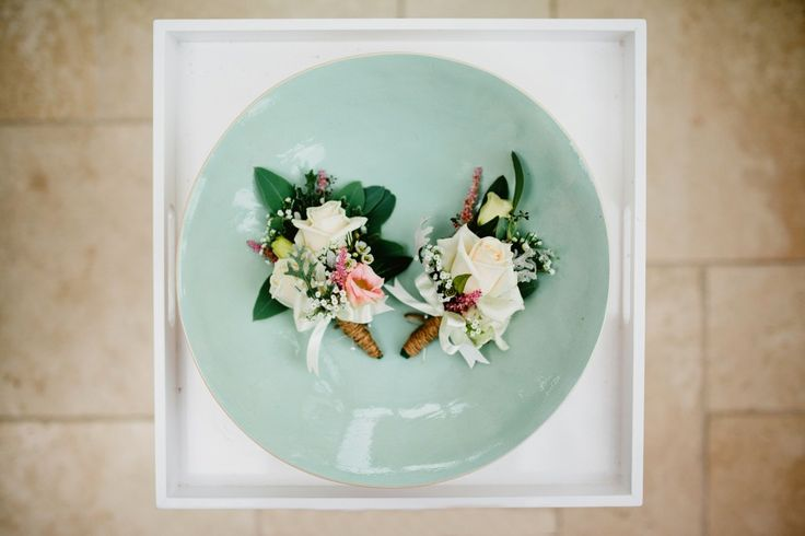 mixed country style corsages Elegant wedding in a tent in Guildford   Green antlers photography   Destination wedding photography  London based