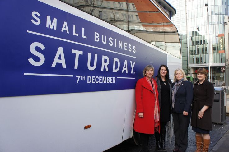 Kate Tyler with Lilian Greenwood MP, Penny Strutton and Carolyn Spencer as part of the Small Business Saturday nationwide tour.