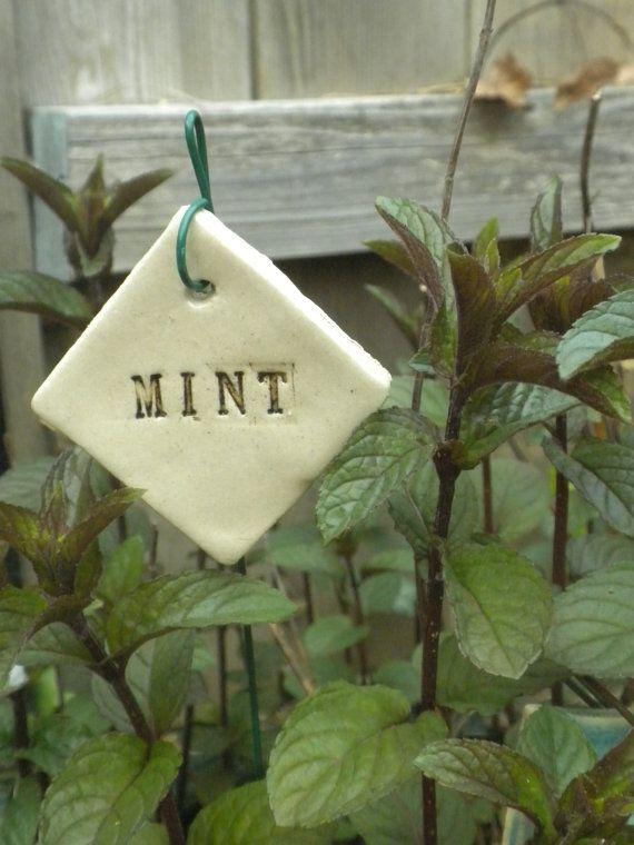 Mint Plant Marker by brigittechristine on Etsy, $5.00
