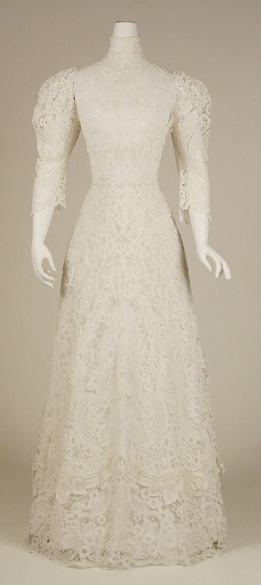 Afternoon Dress 1901, American, Made of cotton