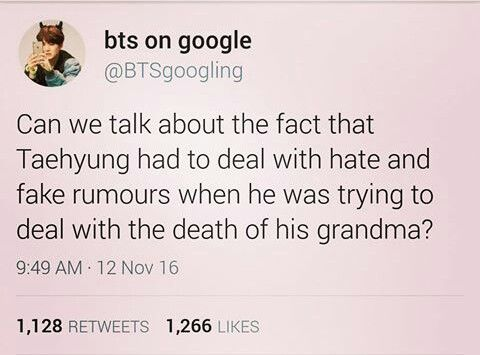 Yes I know. Poor V. The amount of hate he received is just too much. This post had unleashed the Mama Bear within me tho. Imma kill em half dead. NO ONE MESSES WITH MAH SON (although he's older than me)