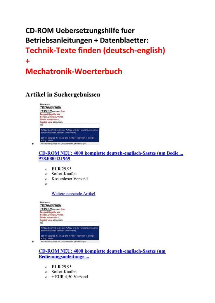 Ebay shop deutsch englisch mechatronik texte for Deutsch auf englisch ubersetzen