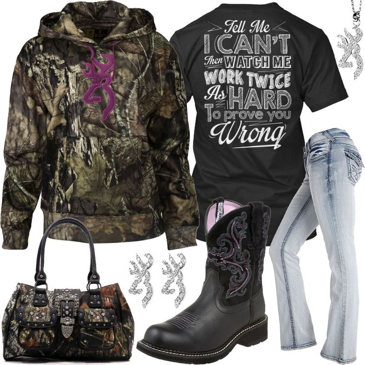 Prove You Wrong Browning Mossy Oak Camo Hoodie Outfit - Real Country Ladies