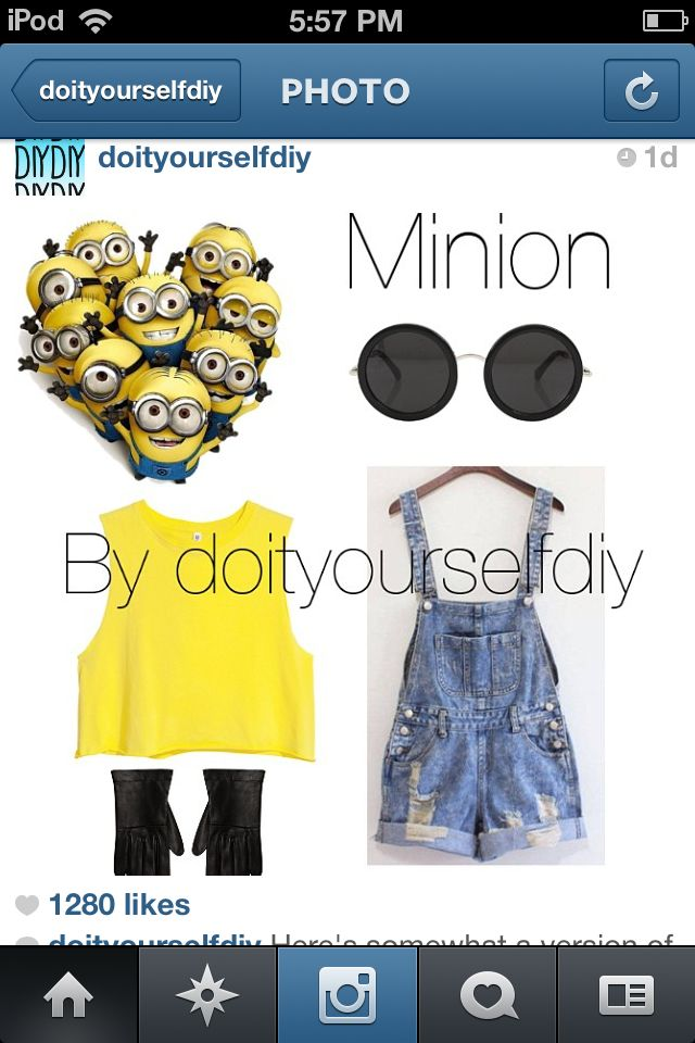 Minion Halloween costume DIY