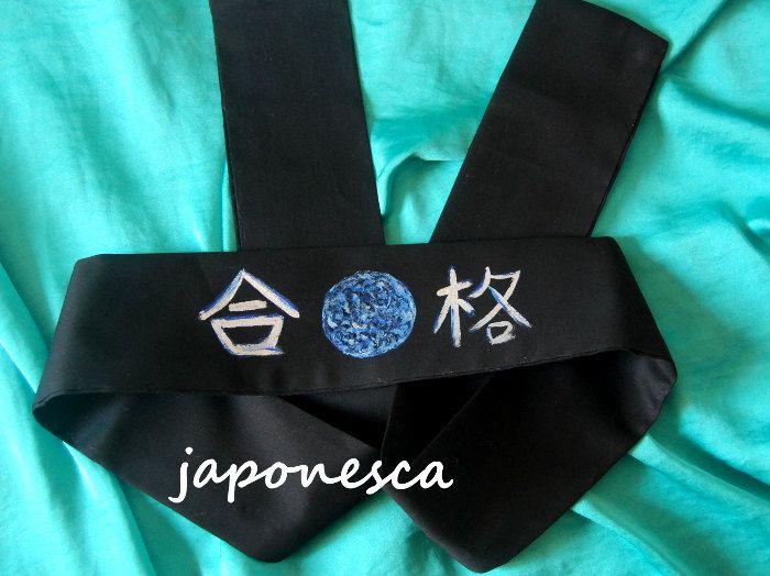 """Cinta para estudantes, un amuleto para """"pasar el examen"""" de Japonesca en Etsy"""