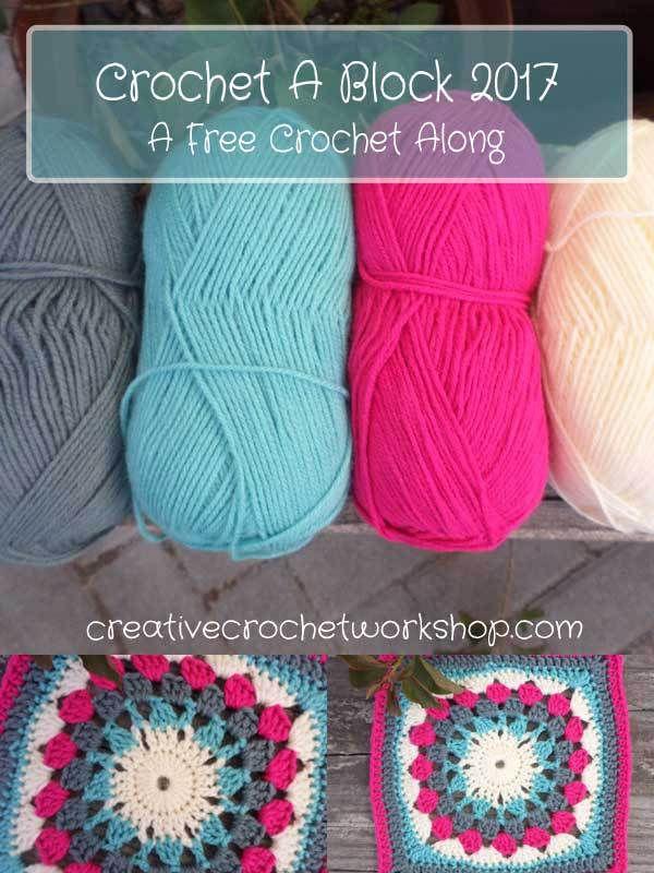 Crochet A Block Afghan 2017 - A Free Crochet Along | Creative Crochet Workshop