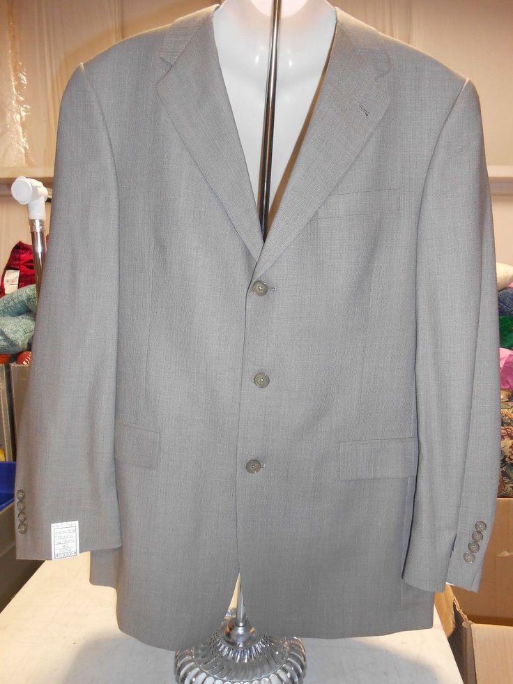 Austin Reed Men's Pants + Blazer Suit Jacket Set, 42L, 36W, Textured Gray