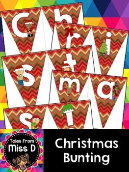 "Celebrate Christmas in your room with this cute bunting banner! Reads ""Merry Christmas!""."