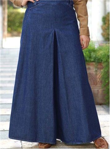 SHUKR UK | The Denim Trouser Skirt